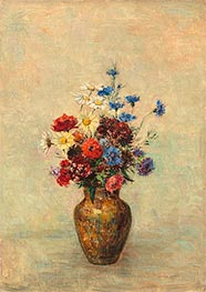 Odilon Redon | Flowers in a Vase, c.1910 | Giclée Canvas Print