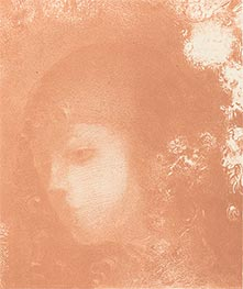 Odilon Redon | Head of a Child with Flowers, 1897 | Giclée Paper Print