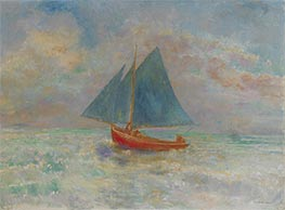 Odilon Redon | Red Boat with Blue Sail, c.1910 | Giclée Canvas Print
