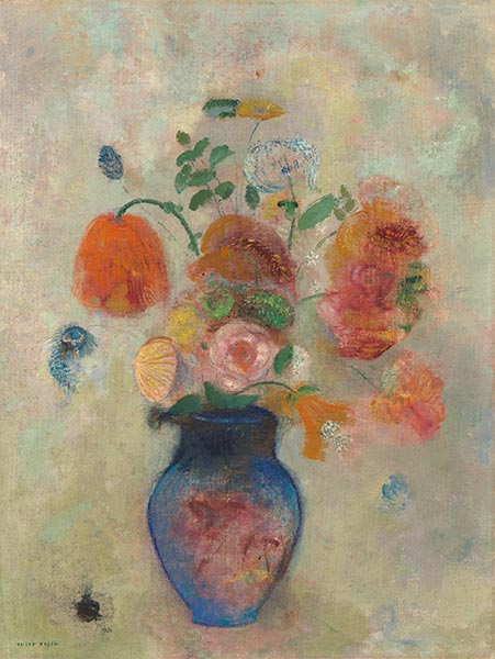 Large Vase with Flowers, c.1912 | Odilon Redon | Painting Reproduction
