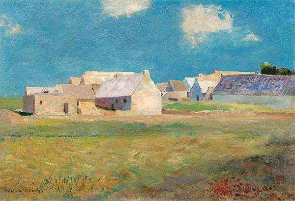 Breton Village, c.1890 | Odilon Redon | Painting Reproduction