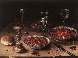 Osias Beert | Still-Life with Cherries and Strawberries in China, 1608 | Giclée Canvas Print