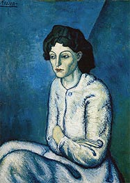 Picasso | Woman with Crossed Arms, c.1901/02 | Giclée Canvas Print