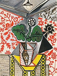 Picasso | Interior with Flowerpot | Giclée Canvas Print