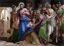 Veronese | Christ addressing a Kneeling Woman (The Conversion of Mary Magdalene), a.1546 | Giclée Canvas Print