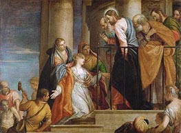 Veronese | Raising of the Widow's Son of Nain, c.1565/70 | Giclée Canvas Print