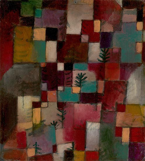 Redgreen and Violet-Yellow Rhythms, 1920 | Paul Klee | Giclée Canvas Print