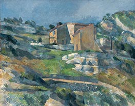 Cezanne | Houses in Provence the Riaux Valley near L'Estaque | Giclée Canvas Print