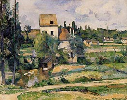 Cezanne | Mill on the Couleuvre at Pontoise | Giclée Canvas Print