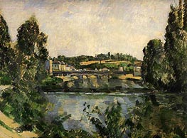 Cezanne | The Bridge and Waterfall at Pontoise | Giclée Canvas Print