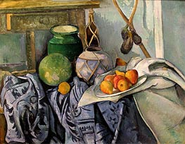 Cezanne | Still Life with a Ginger Jar and Eggplants | Giclée Canvas Print
