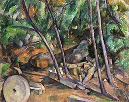 Cezanne | Millstone in the Park of the Chateau Noir | Giclée Canvas Print