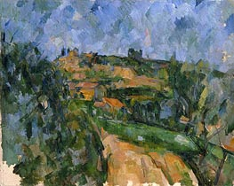Cezanne | The Bend in the Road above the Chemin des Lauves, c.1904/06 | Giclée Canvas Print