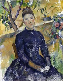 Cezanne | Madame Cezanne in the Conservatory, c.1891/92 | Giclée Canvas Print