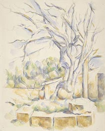 Cezanne | Pistachio Tree in the Courtyard of the Chateau Noir, c.1900 | Giclée Paper Print