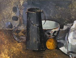 Cezanne | Still Life with Carafe, Milk Can, Coffee Bowl and Orange, c.1879/82 | Giclée Canvas Print