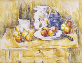 Cezanne | Still Life with Apples on a Sideboard, c.1900/06 | Giclée Paper Print