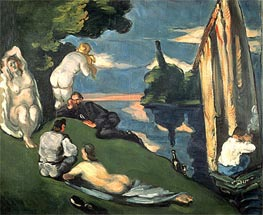 Cezanne | Pastoral or Idyll, c.1870 | Giclée Canvas Print