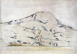 Cezanne | View of Mont Sainte Victoire - Study of a Tree | Giclée Canvas Print