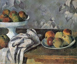 Cezanne | Still Life with Compotier, c.1879/80 | Giclée Canvas Print