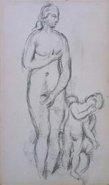 Cezanne | Antique Aphrodite and Eros, c.1885/90 | Giclée Paper Print