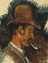 Cezanne | Man with Pipe | Giclée Canvas Print