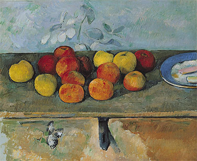 Apples and Biscuits, c.1879/82 | Cezanne | Giclée Canvas Print