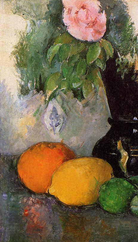 Flowers and Fruit, c.1880   Cezanne   Painting Reproduction