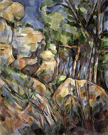 Rocks near the Caves below the Chateau Noir, c.1904 | Cezanne | Giclée Canvas Print