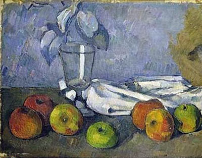 Still Life with Glass and Apples, c.1879/82 | Cezanne | Giclée Canvas Print