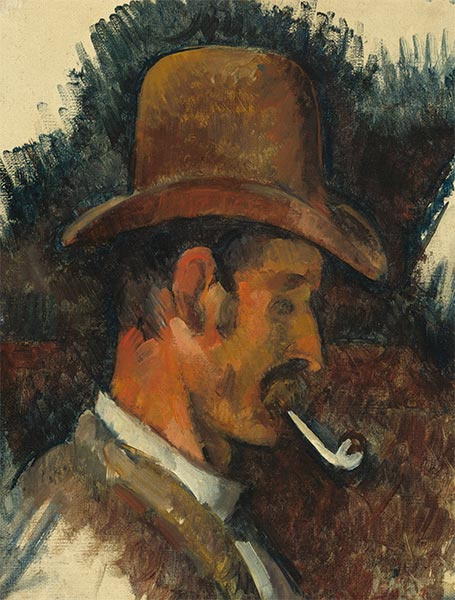 Man with Pipe, c.1892/96 | Cezanne | Giclée Canvas Print