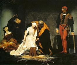 Paul Delaroche | The Execution of Lady Jane Grey, 1833 | Giclée Canvas Print