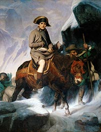 Paul Delaroche | Bonaparte Crossing the Alps, 1848 | Giclée Canvas Print