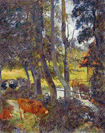 Gauguin   Landscape in Normandy with Pond   Giclée Canvas Print