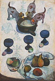Gauguin | Still Life with Three Puppies | Giclée Canvas Print