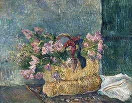 Gauguin | Still Life with Moss Roses in a Basket | Giclée Canvas Print