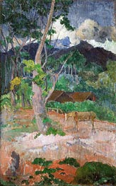 Gauguin | Landscape with a Horse | Giclée Canvas Print