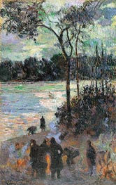 Gauguin | The Fire at the River Bank | Giclée Canvas Print