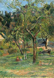 Gauguin | An Orchard under the Church of Bihorel | Giclée Canvas Print