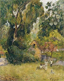 Gauguin | Huts under the Trees | Giclée Canvas Print