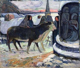 Gauguin | Christmas Night (The Blessing of the Oxen) | Giclée Canvas Print