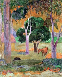 Gauguin | Dominican Landscape or, Landscape with a Pig and Horse, 1903 | Giclée Canvas Print