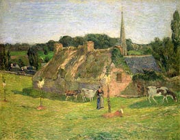 Gauguin | Lollichon's Field and the Church of Pont-Aven, 1886 | Giclée Canvas Print