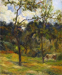 Gauguin | Normandy Landscape: Cow in a Meadow, 1884 | Giclée Canvas Print