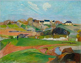 Gauguin | Landscape at Le Pouldu | Giclée Canvas Print