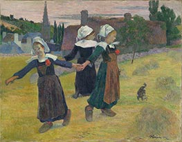 Gauguin | Breton Girls Dancing, Pont-Aven, 1888 | Giclée Canvas Print