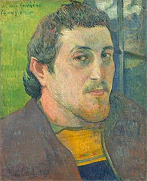 Gauguin | Self-Portrait Dedicated to Carrière, c.1888/89 | Giclée Canvas Print