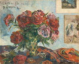 Gauguin | Still Life with Peonies, 1884 | Giclée Canvas Print