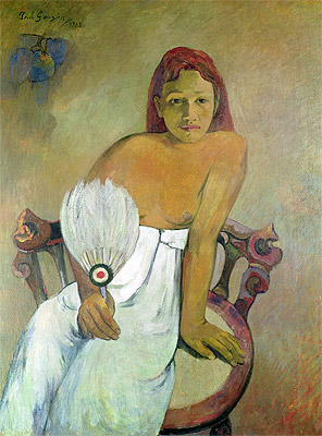 Girl with a Fan, 1902 | Gauguin | Painting Reproduction