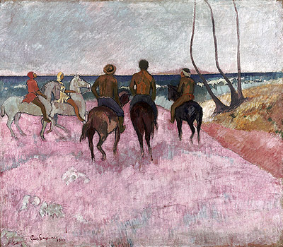 Riders on the Beach, 1902 | Gauguin | Painting Reproduction
